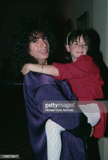 American child actor Meeno Peluce with his sister, American child actress Soleil Moon Frye, attend the 37th Annual Primetime Emmy Awards, held at the...