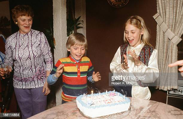 American child actor Ricky Schroder celebrates his ninth birthday April 13 1979 His sister fellow actor Dawn Schroder is beside him