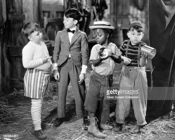 American child actors George 'Spanky' McFarland Carl 'Alfalfa' Switzer Billie 'Buckwheat' Thomas and Eugene Gordon Lee in a promotional still for a...