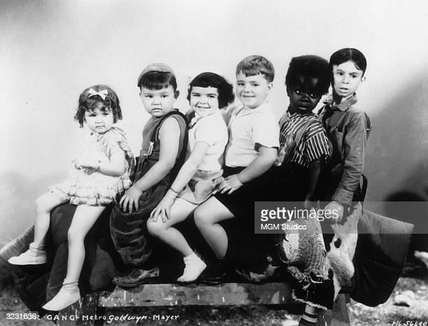 American child actors Patsy Mae Dittemore Eugene 'Porky' Lee Darla Hood George 'Spanky' McFarland Billie 'Buckwheat' Thomas and Carl 'Alfalfa'...