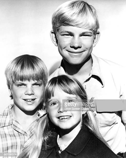 American child actors Trent Lehman David Doremus and Kim Richards in a promotional portrait for the sitcom 'Nanny And The Professor' circa 1970 They...