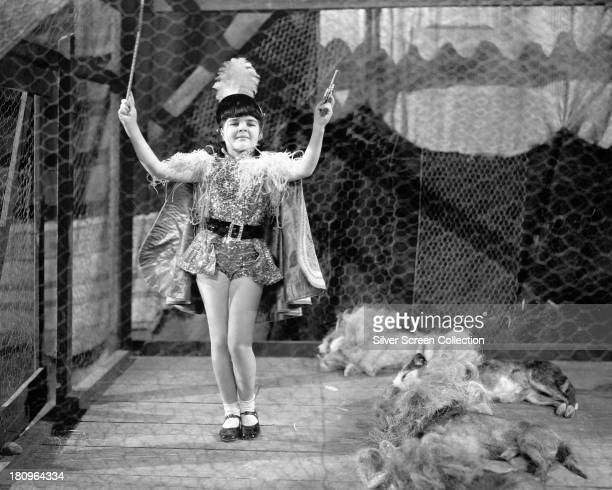 American child actress Darla Hood in a promotional still for 'Clown Princes' a film in the the MGM 'Our Gang' comedy series directed by George Sidney...