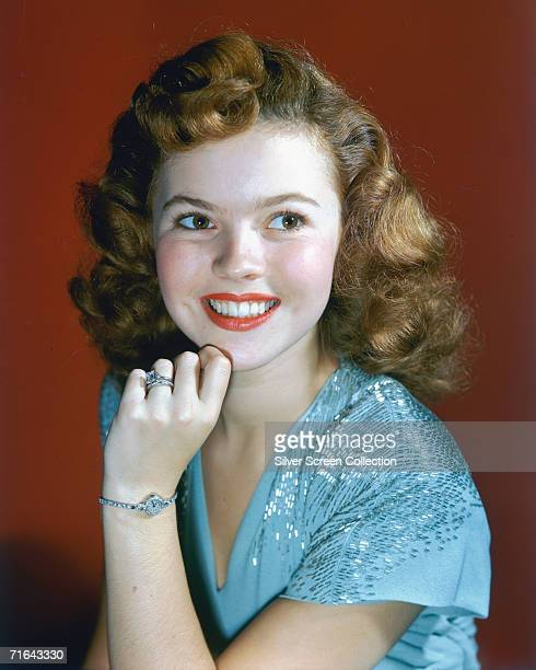 American child star and actress Shirley Temple circa 1945