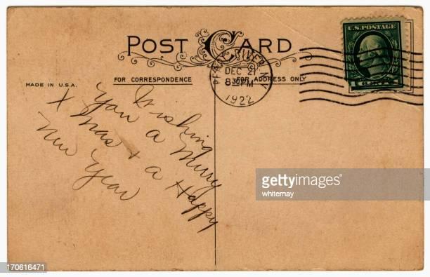 American Noël voeux carte postale de