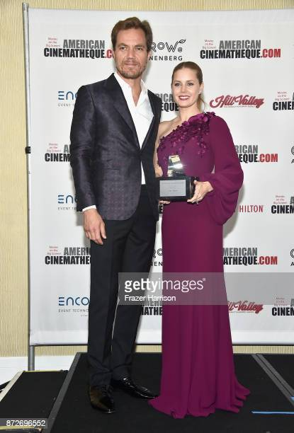 American Cinematheque Award recipient Amy Adams and Michael Shannon attend the 31st Annual American Cinematheque Awards Gala at The Beverly Hilton...