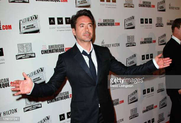 American Cinematheque Award Recipient Robert Downey Jr arrives at The 25th American Cinematheque Award Honoring Robert Downey Jr held at The Beverly...