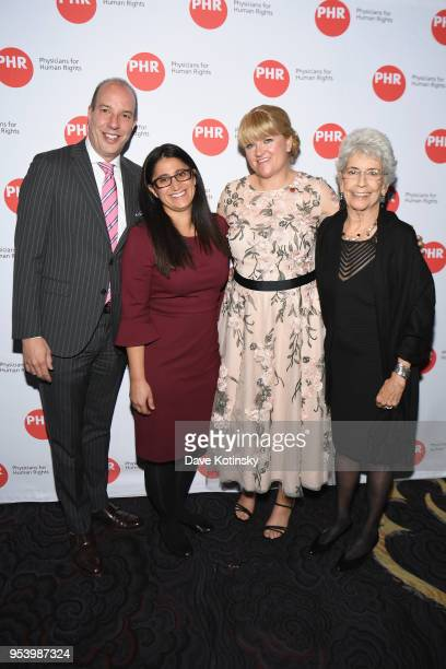 American Civil Liberties Union Executive Director Anthony D Romero and honorees Dr Mona HannaAttisha Alex Wubbels RN and Dr Norma Price attend the...