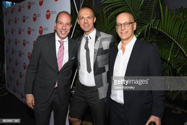 American Civil Liberties Union Executive Director Anthony D Romero Slobodan Randjelovic and Jon Stryker attend the Physicians for Human Rights 2018...