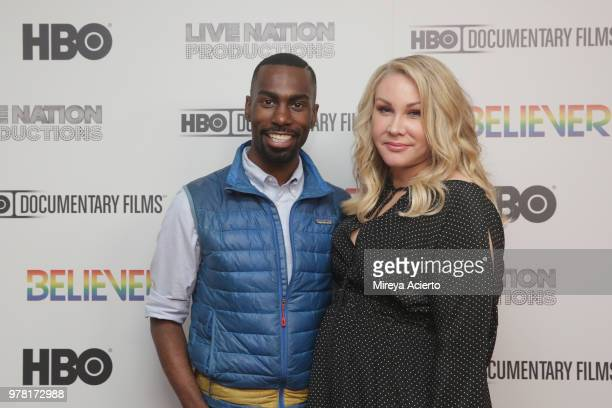 American civil rights activist and Black Lives Matter supporter DeRay Mckesson and producer Heather Parry attend the Believer New York Premiere at...