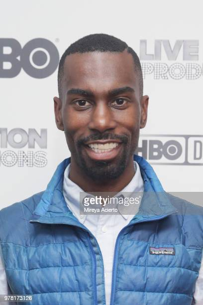 American civil rights activist and Black Lives Matter supporter DeRay Mckesson attends the Believer New York Premiere at Metrograph on June 18 2018...