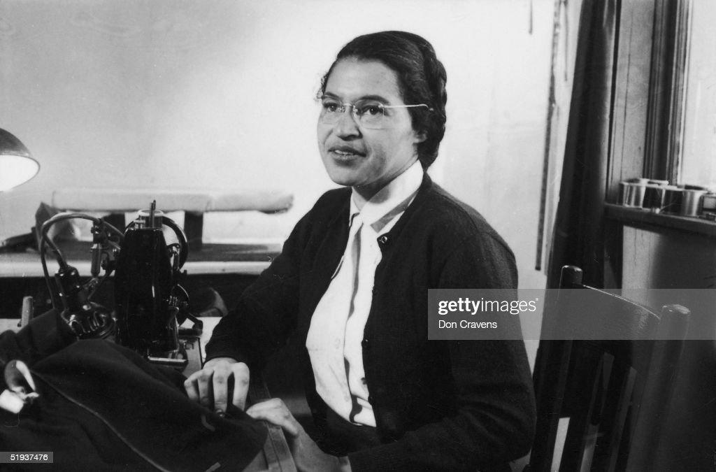 Rosa Parks At Work : News Photo