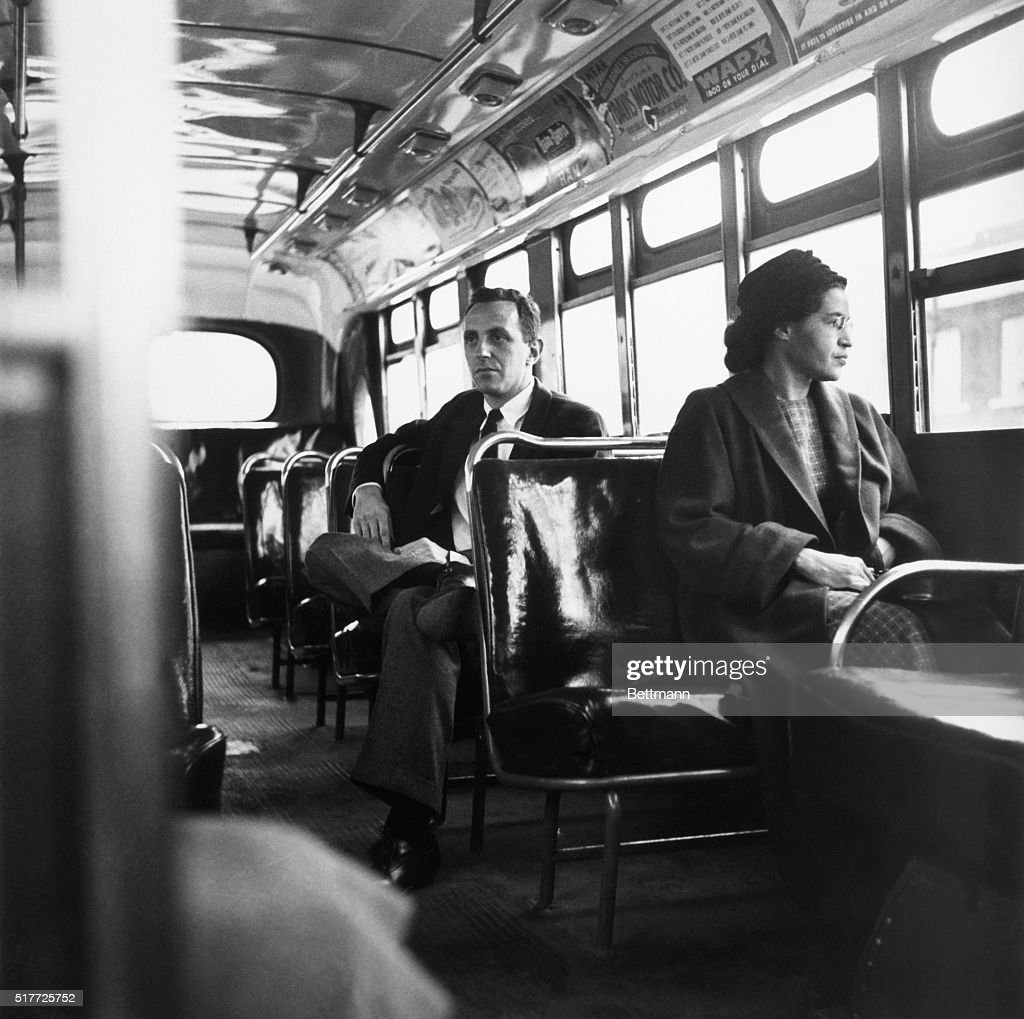 Rosa Parks Riding the Bus : News Photo