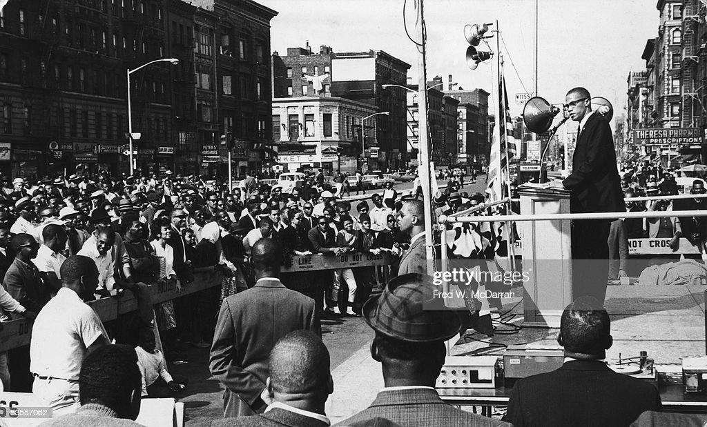 Malcolm X Speaks In Harlem : News Photo