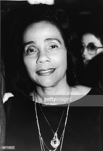 American civil rights campaigner and widow of Dr Martin Luther King Jr Coretta Scott King at the New York Film Cirtics Awards held at Sardi's...