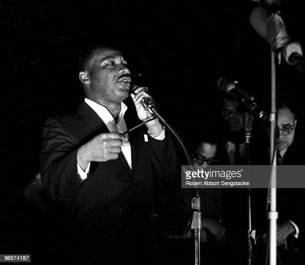 American Civil Rights leader Dr Martin Luther King Jr at the 'Stars for Freedom' rally Montgomery Alabama March 24 1965 The rally occured on the last...