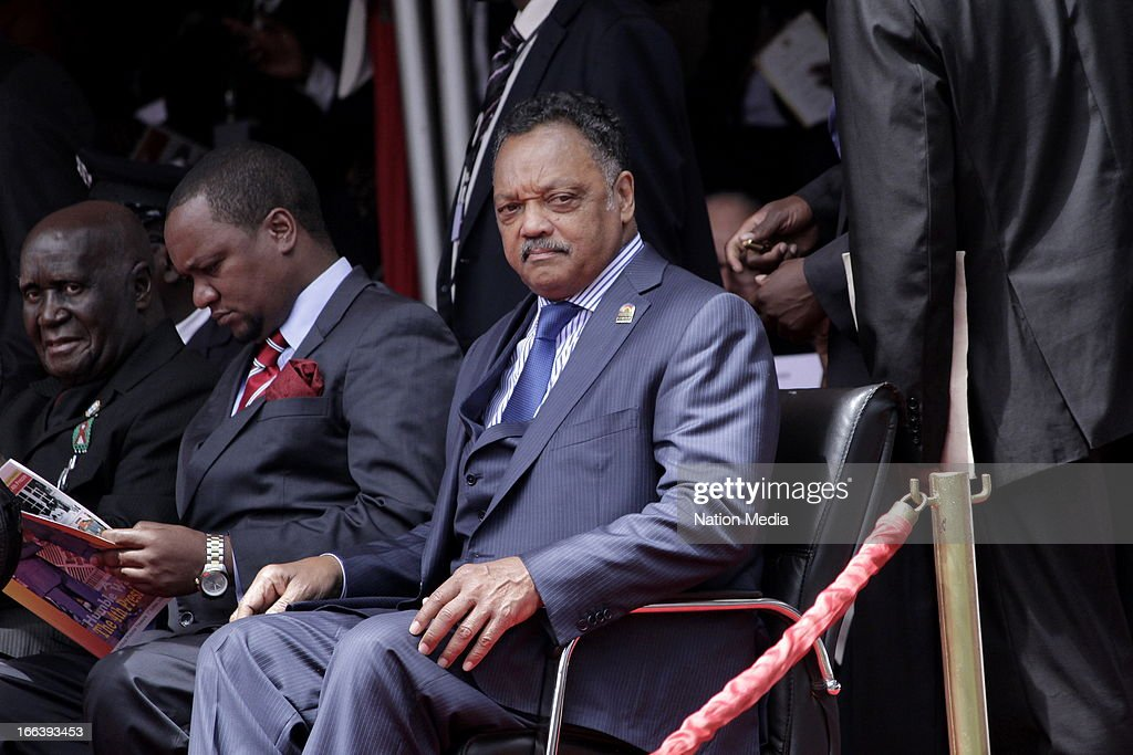 American civil rights leader, Reverend Jesse Jackson at the Inauguration ceremony of President Uhuru Kenyatta on April 9, 2013 in Nairobi, Kenya. Kenyatta received masses of support from the citizens of Kenya despite being under investigation for crimes against humanity.
