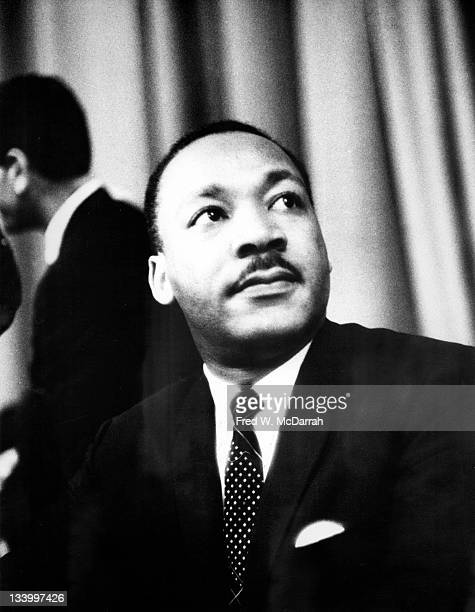 American Civil Rights leader Reverend Martin Luther King Jr attends an event held by the Drug Hospital and Health Care Employees UnionDistrict 1199...