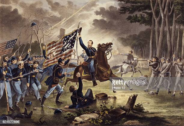 General Kearney's gallant charge Battle of Chantilly Virginia 1 September 1862 Kearny mistakenly rode into the Confederate lines and was killed
