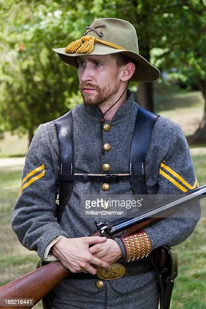 American Civil War Confederate Cavalryman