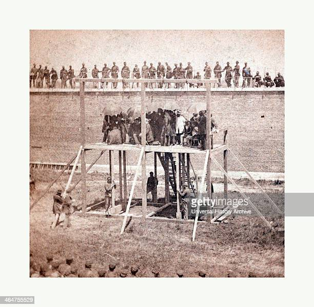 Execution Of The Conspirators The Arrival On The Scaffold July 7 1865 Photo Albumen Print By Alexander Gardner 1821 1882 Scottish Photographer Who...