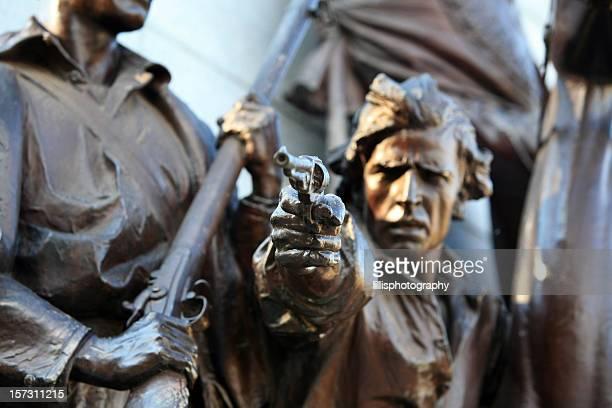 american civil war soldier statue gettysburg battlefield - gettysburg stock photos and pictures