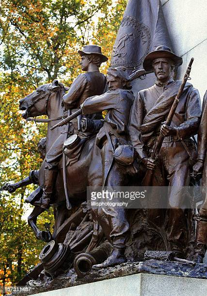 american civil war soldier statue gettysburg battlefield - public domain stock pictures, royalty-free photos & images