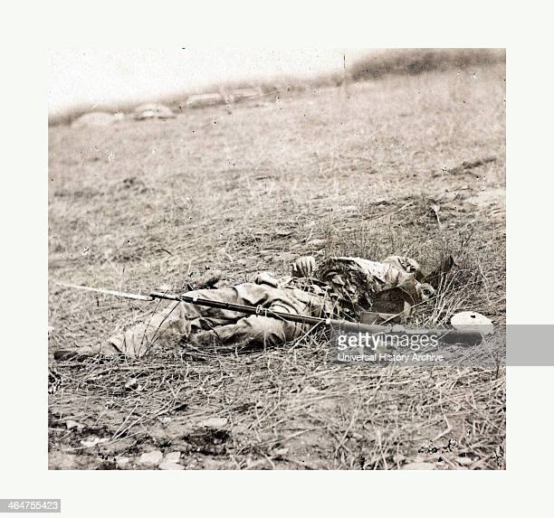 The Horrors Of War Confederate Soldier Killed By A Shell At The Battle Of Gettysburg July 3 1863 Photo Albumen Print By Alexander Gardner 1821 1882...
