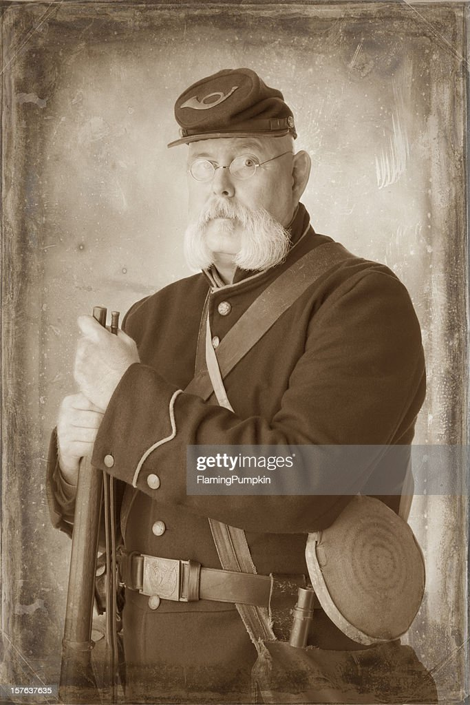 American civil war union soldier sepia toned to look old stock photo american civil war union soldier sepia toned to look old stock photo thecheapjerseys Choice Image