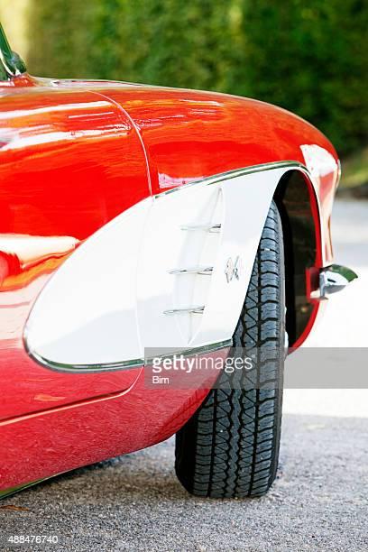 american classic car 1958 chevrolet corvette c1, side detail - 1960 corvette stock pictures, royalty-free photos & images