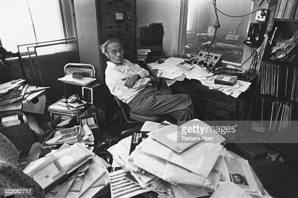 American classical music station radio personality Simon Geller in his apartmentcumradio studio in which he broadcasts his WVCAFM show Gloucester...