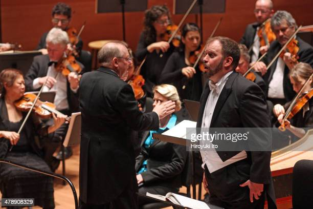 """American Classical Orchestra performing Handel's """"Samson"""" at Alice Tully Hall on Tuesday night, March 4, 2014.This image:Thomas Cooley with the..."""
