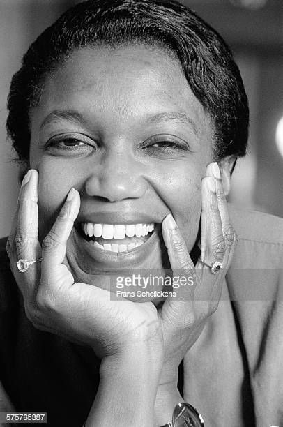 American classical singer Claron McFadden poses on February 8th 1998 at Hotel Krasnapolsky in the Amsterdam, Netherlands.