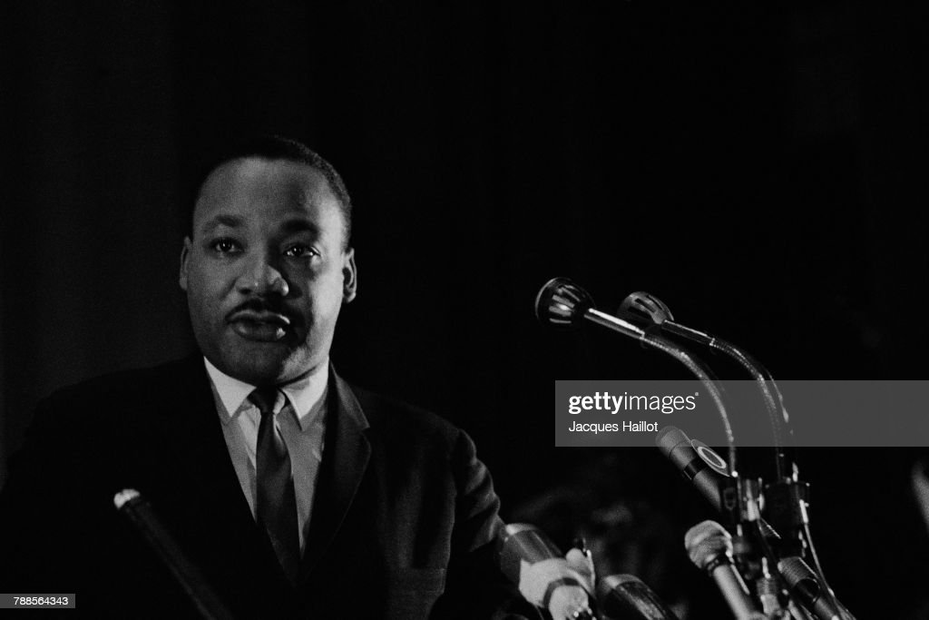 American clergyman, activist, and prominent leader in the African-American civil rights movement Martin Luther King, Jr.