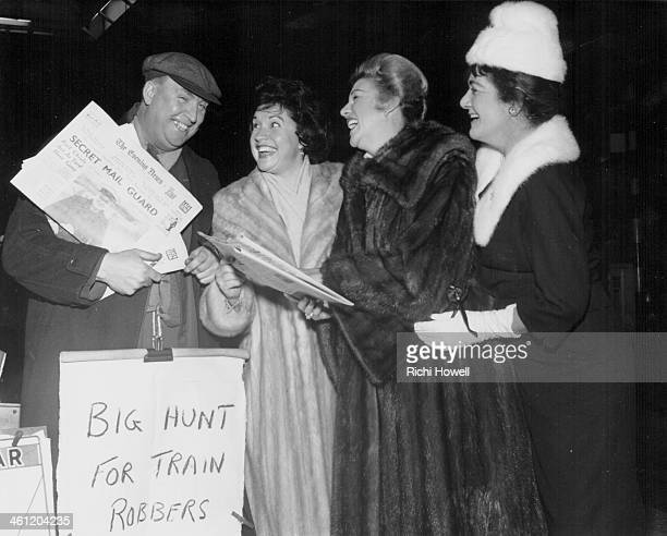American close harmony singers The Andrews Sisters visiting Great Britain Maxene Patty and LaVerne 1960