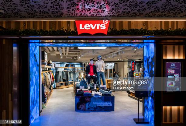 American clothing company brand, Levi´s store and logo seen in Hong Kong.