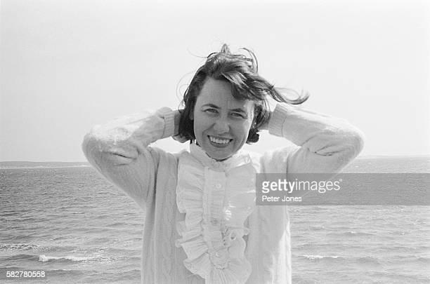 American Columnist Liz Smith at the Beach
