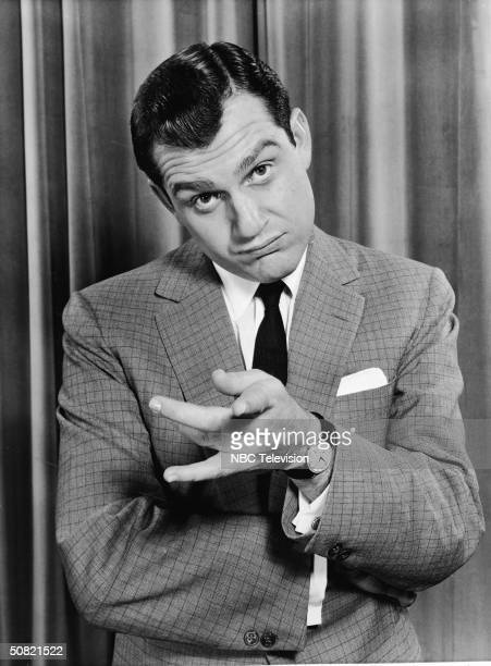 American comedian Alan King performs for the television variety special 'Happy New Year' 1955