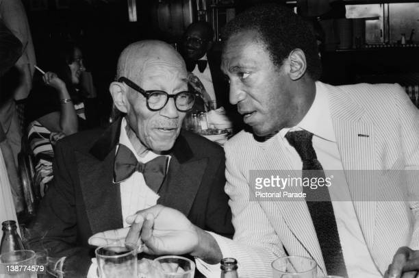 American comedian and actor Bill Cosby with pianist Eubie Blake at Gallagher's Restaurant in New York 20th September 1978
