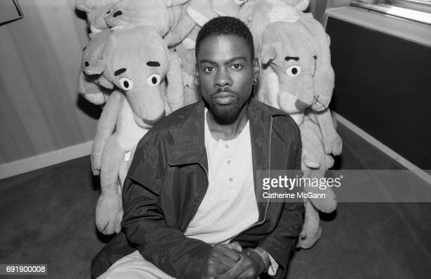 OCTOBER 1997 American comedian and actor Chris Rock poses for a portrait in the Gary Panter Playroom at the Paramount Hotel in October 1997 in New...