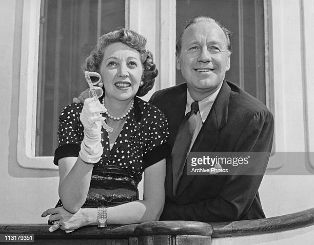 American comedian and actor Jack Benny and his wife Mary Livingstone circa 1952