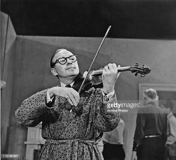 American comedian and actor Jack Benny playing the violin circa 1950's