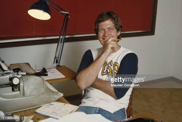 American comedian and television show host David Letterman circa 1980