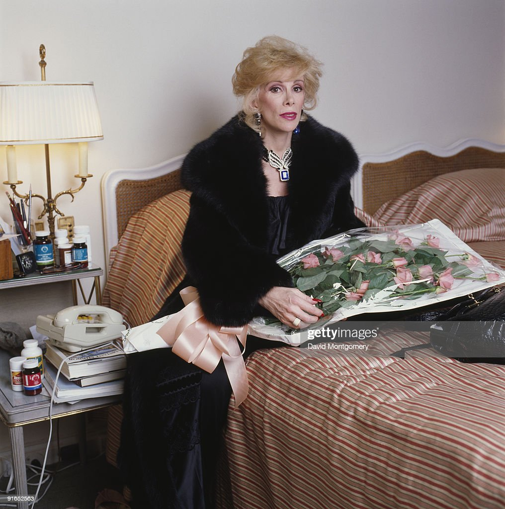 American comedian and TV personality Joan Rivers in her room at Claridge's hotel, London, 22nd November 1983.