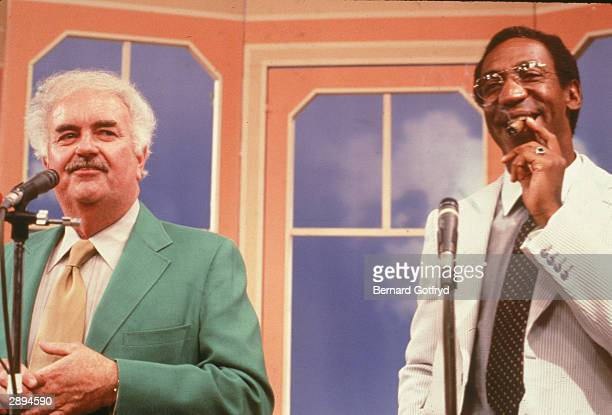 American comedian Bill Cosby appears on the children's TV series 'Captain Kangaroo' with host Robert Keeshan circa 1970