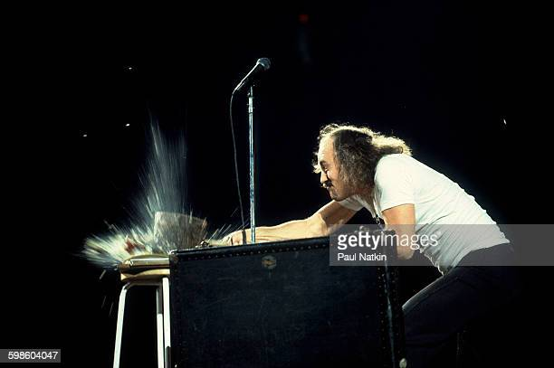American comedian Gallagher performs at the Rosemont Horizon Rosemont Illinois July 10 1981