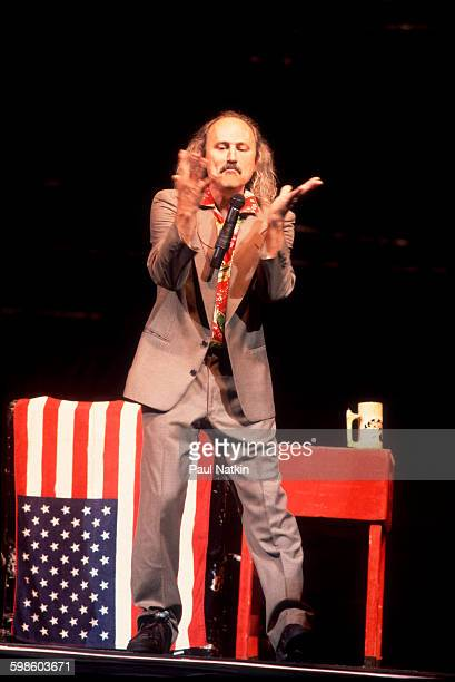 American comedian Gallagher performs at the Star Plaza Theater Merrillville Indiana November 1 1995