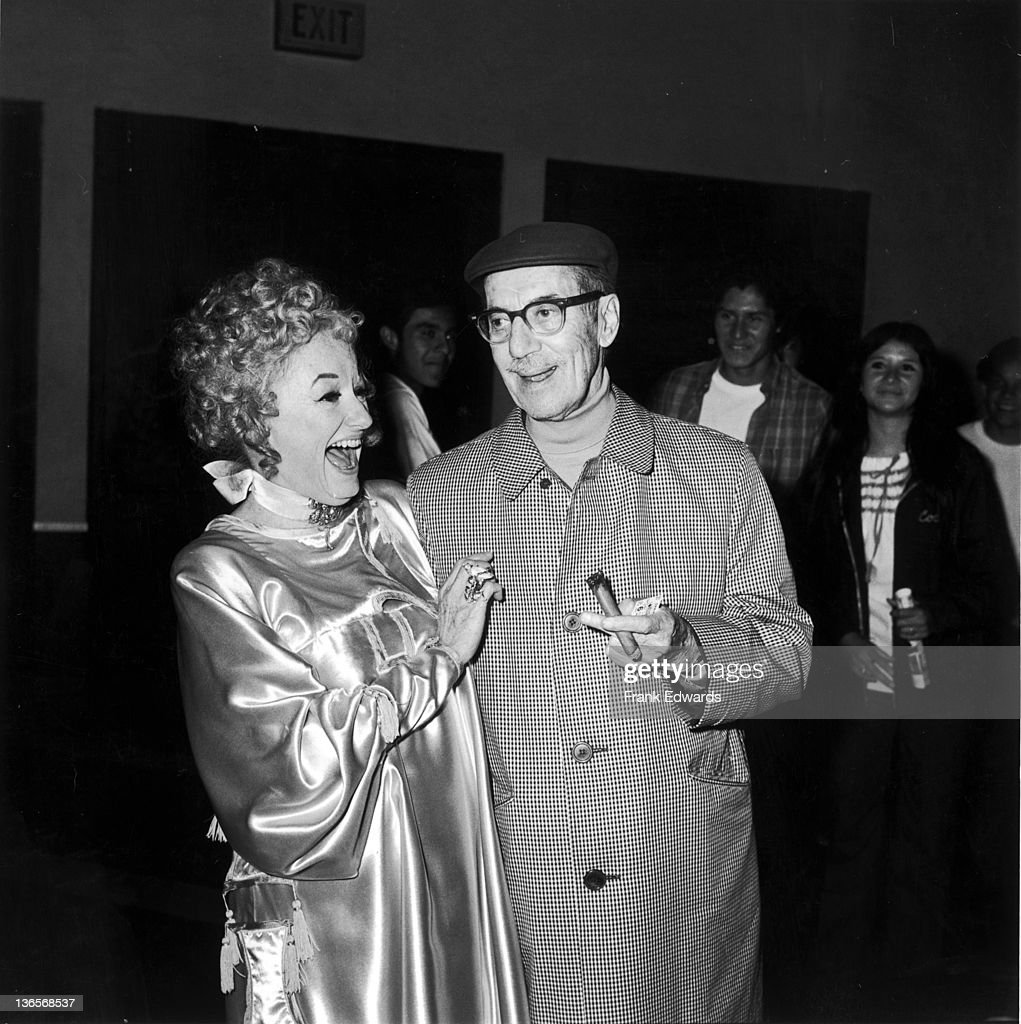American comedian Groucho Marx (1890 - 1977) with actress and comedian Phyllis Diller at the opening of Gene Kelly's film version of 'Hello, Dolly!', December 1969.