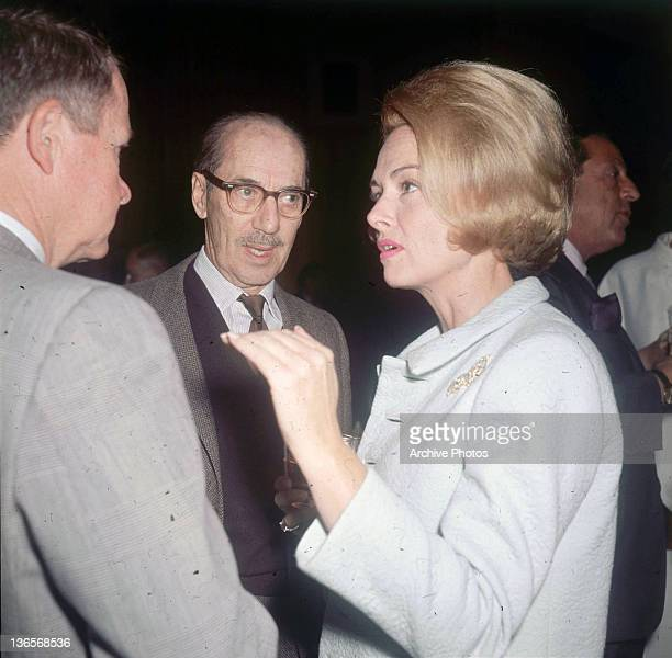 American comedian Groucho Marx with actress Donna Reed at a preview party for Sydney Pollack's 'The Slender Thread' Hollywood California 8th December...