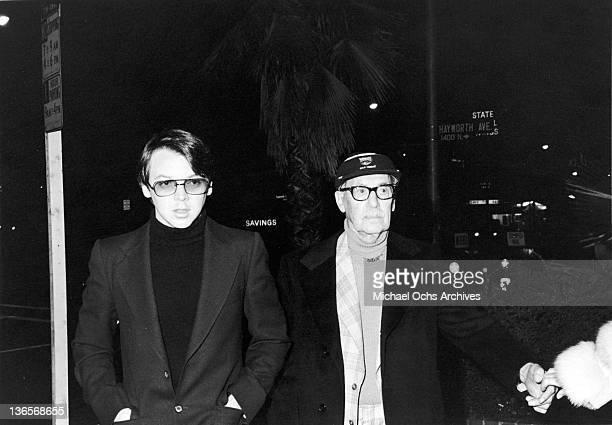 American comedian Groucho Marx with his grandson Andy Los Angeles circa 1975