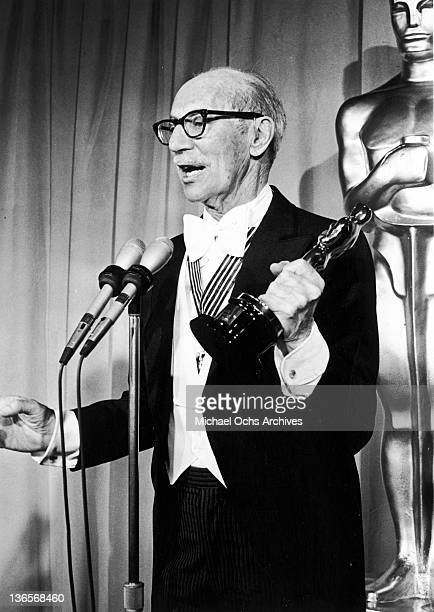 American comedian Groucho Marx with his Honorary Award given at the 46th Annual Academy Awards at Music Center Los Angeles California 2nd April 1974